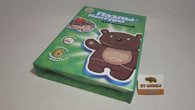 Контурные пазлы «Лесные животные», 01297