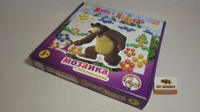 Мозаика с аппликацией «Маша и Медведь»