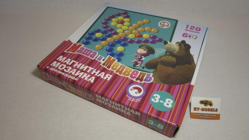 Магнитная мозаика с аппликацией «Маша и Медведь», 01446