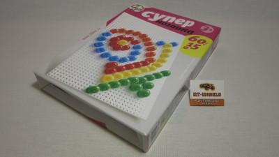 Пластмассовая мозаика для детей «Супер» 60 элементов