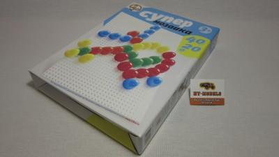 Пластмассовая мозаика для детей «Супер» 40 элементов