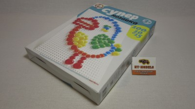 Пластмассовая мозаика для детей «Супер» 100 элементов